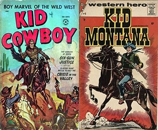 Kid Cowboy and Kid Montana. Issues 4 and 9. Western hero. Boy marvel of the wild west. Six Gun justice, crisis in the valley. Golden Age Digital Comics Wild West Western.