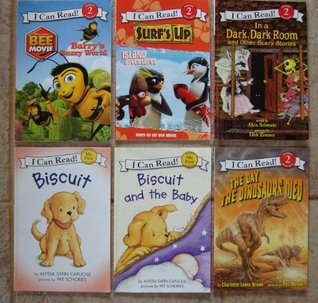 I Can Read! Set of 6 Books (Biscuit ~ Biscuit and the Baby ~ Surf's Up! Island Adventures ~ In a Dark, Dark Room and Other Scary Stories ~ Bee Movie: Barry's Buzzy World ~ The Day the Dinosaurs Died)