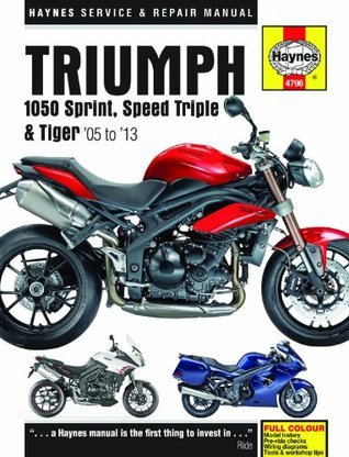 Triumph 1050 Sprint ST, Speed Triple & Tiger Service and Repair Manual: 2005 to 2013