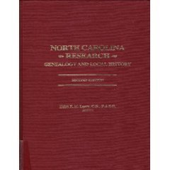 North Carolina Research: Genealogy and Local History