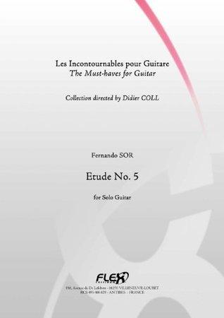 CLASSICAL SHEET MUSIC - Study No 5 - SOR - Solo Guitar