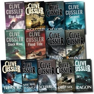 Deep Six / Blue Gold / Flood Tide / Shock Wave / Serpent / Raise the Titanic / The Sea Hunters / Pacific Vortex) (Dirk Pitt Series 8 Books Set )