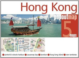 Hong Kong PopOut Map: pop-up city street map of Hong Kong city center - folded pocket size travel map