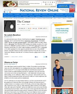 The Corner on National Review Online
