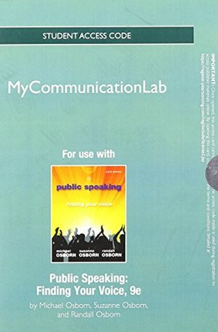 New Mycommunicationlab -- Standalone Access Card -- For Public Speaking: Finding Your Voice
