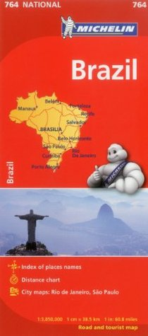 Michelin Map Brazil 764 (Maps/Country