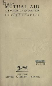 Ebook Mutual Aid by Pyotr Kropotkin TXT!
