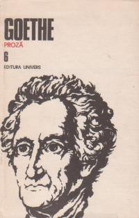 Opere: 6. Proză: anii de ucenicie ai lui Wilhelm Meister