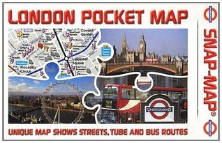 London Pocket Map: Overground/Underground Map Unique Map Shows Streets, Tube, Rail and Bus Routes