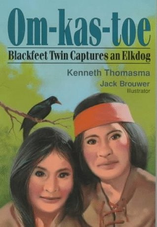 Om-Kas-Toe Blackfoot Twin Captures Elkdog by Kenneth Thomasma