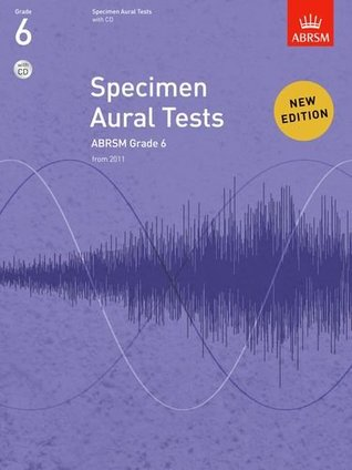 Specimen Aural Tests, Grade 6, with CD: From 2011 (Specimen Aural Tests