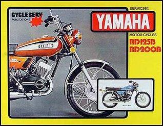 1974-1976 Yamaha RD125 RD200 Cycleserv Repair Shop Manual Motorcycle