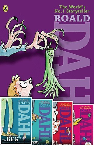Roald Dahl Set of Five Paperback Books Includes Charlie & the Chocolate Factory, the Bfg, Matilda, the Witches & Esio Trot