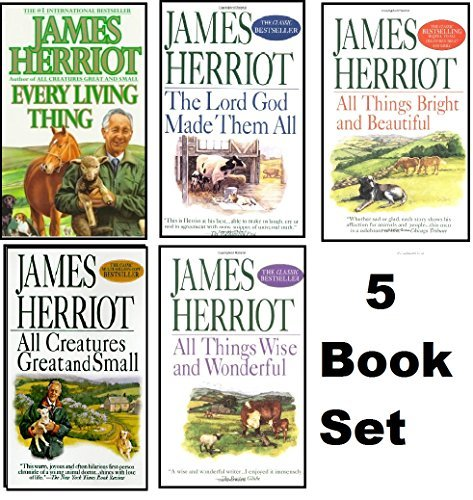 James Harriot's 5 Book Set: All Creatures Great and Small / All Things Bright and Beautiful / All Things Wise and Wonderful/ the Lord God Made Them All/ Every Living Thing