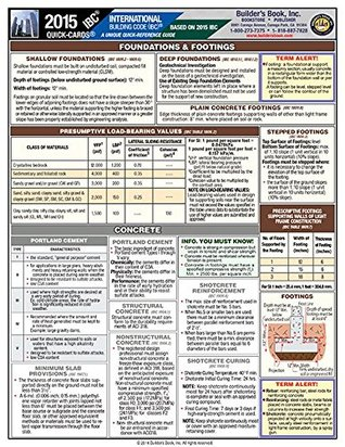 International Building Code 2015 IBC--Laminated Quick-Card