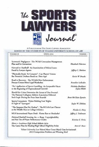 The Sports Lawyers Journal, Volume 21, Number 1, Spring 2014