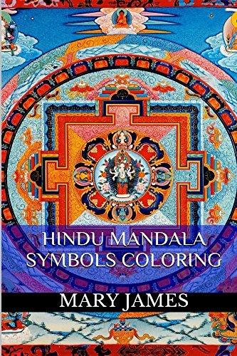 Hindu Mandala Symbols Coloring: Meditation Healing Mandala Coloring Book for Adults
