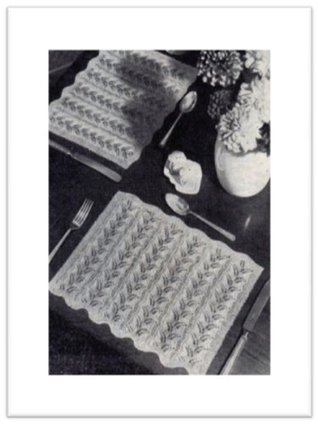 #1763 LACE PLACEMAT VINTAGE KNITTING PATTERN