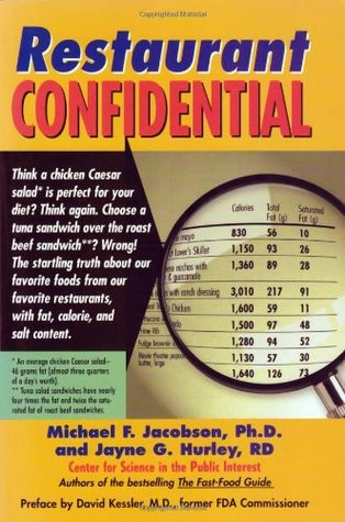 Free download Restaurant Confidential: The Shocking Truth about What You're Really Eating When You're Eating Out PDF