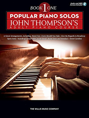 Popular Piano Solos - John Thompson's Adult Piano Course (Book 1): Elementary Level