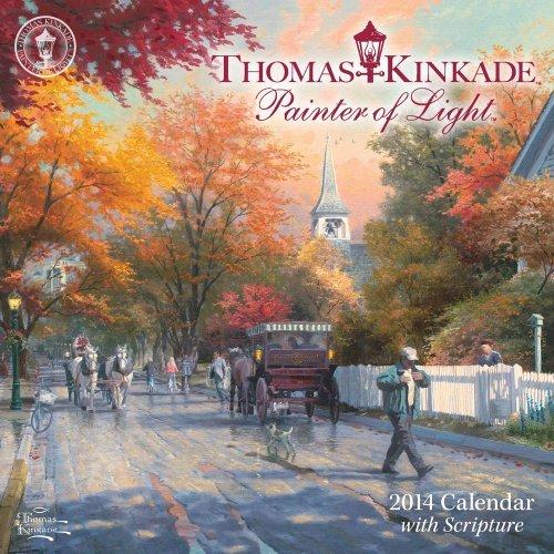 Thomas Kinkade Painter of Light with Scripture 2014 Mini Wall Calendar