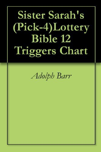 Sister Sarah's (Pick-4)Lottery Bible 12 Triggers Chart