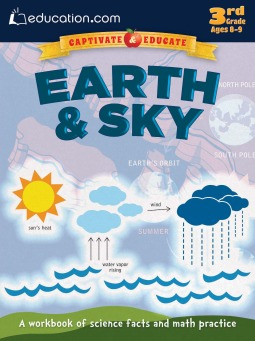 Earth  Sky: A workbook of science facts and math practice