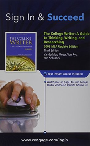 WriteSpace with Personal Tutor Printed Access Card for VanderMey/Meyer/Van Rys/Sebranek's The College Writer: A Guide to Thinking, Writing, and Researching, 2009 MLA Update Edition, 3rd