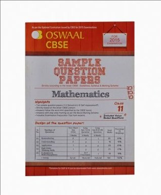 Oswaal CBSE Sample Question Papers for Class 11 Mathematics