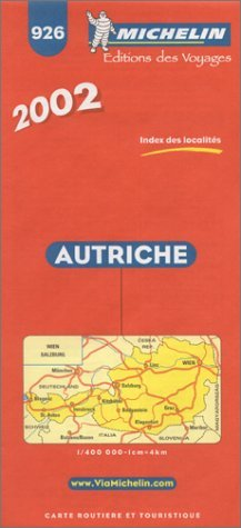 Michelin Austria Map No. 926, 5e