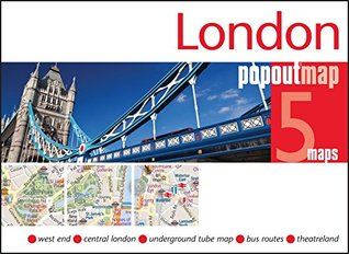 London PopOut Map - handy, pocket-size pop up map of London