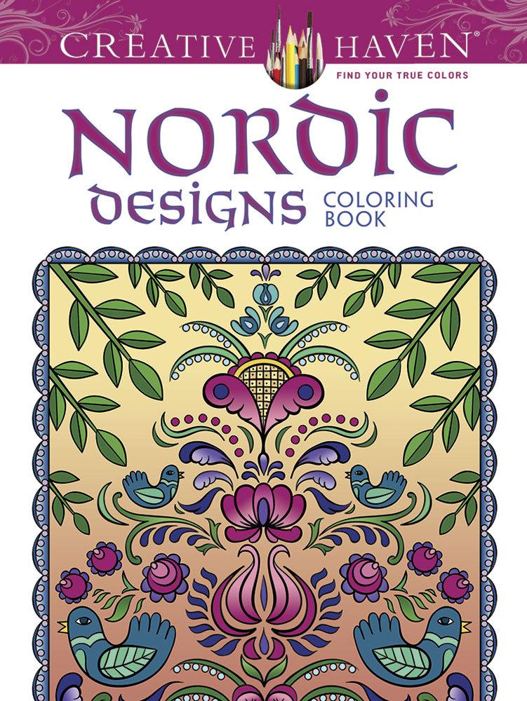 Creative Haven Deluxe Edition Nordic Designs Coloring Book