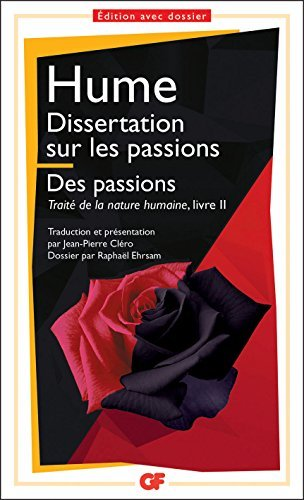 Dissertation sur les passions; Des passions