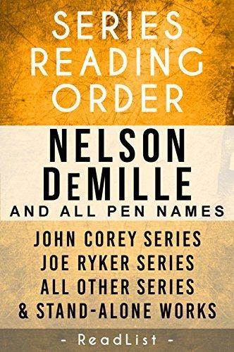 Nelson DeMille Series Order & Checklist: John Corey Series, Joe Ryker Series, John Sutter Series, Paul Brenner Series, Plus All Other Books, Novels, and Short Stories (Series List Book 18)