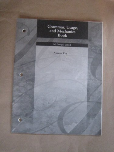 Language Network: Grammar, Usage, and Mechanics Book Answer Key Grade 7