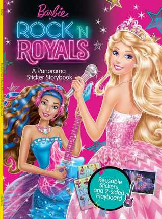 Barbie in Rock 'n Royals: A Panorama Sticker Storybook