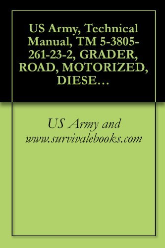 US Army, Technical Manual, TM 5-3805-261-23-2, GRADER, ROAD, MOTORIZED, DIESEL ENGINE DRIVEN (DED), HEAVY, COMMERCIAL CONSTRUCTION EQUIPMENT (CCE) (NSN ... CATERPILLAR MODEL 130GSCE (EIC: EJH)