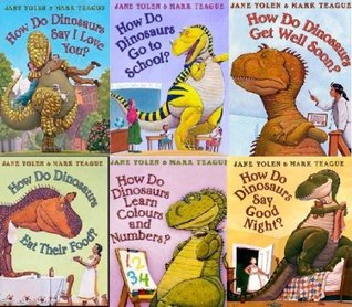 How Do Dinosaurs Collection. 6 Books (How do Dinosaurs say Good Night, Eat Their Food, Learn Colours and Numbers, Get Well Soon, Go To School, Say I Love You). RRP £36.94.