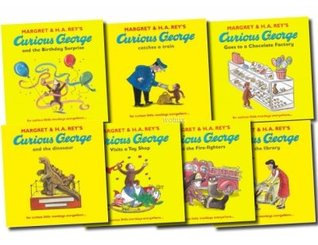 Curious George The Monkey Collection 7 Book Set Pack Series (Dinosaur, Fire-fighters, Visits the Library, Birthday Surprise, Visits a Toy Shop, Catches a Train, Goes to a Chocolate Factory) (Curious George)