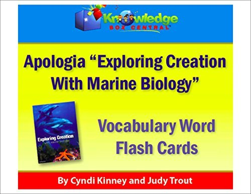 Apologia Vocabulary Words Flash Cards - Exploring Creation with Marine Biology