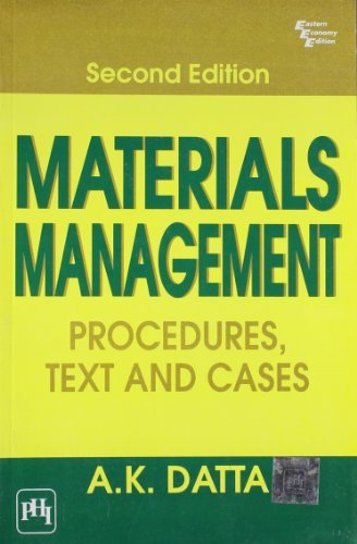 Materials Management: Procedures, Text and Cases