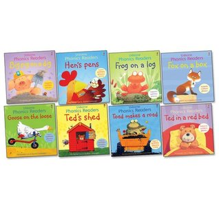 Usborne Phonics Readers Pack - Eight (8) Titles Collection! Big Pig on a Dig, Fox on a Box, Frog on a Log, Goose on the Loose, Hen's Pens, Ted in a Red Bed, Ted's Shed, Toad Makes a Road (Usbornic Readers)