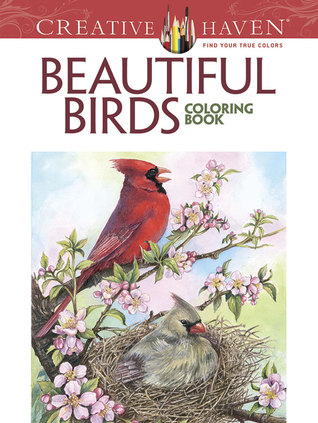 Creative Haven Beautiful Birds Coloring Book By Dot Barlowe