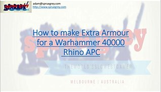 How To Make Extra Armour for a Warhammer 40000 Rhino (Ten Cent Tutorials Book 1)