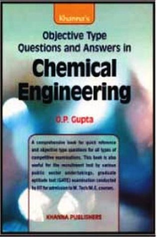 Type engineering book objective questions chemical in
