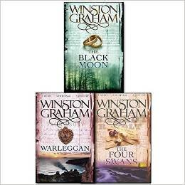 Winston Graham Poldark Series Trilogy Books 4, 5, 6, Collection 3 Books Set, (The Four Swans: A Novel of Cornwall 1795-1797, The Black Moon: A Novel of Cornwall 1794-1795 and Warleggan: A Novel of 1792-1793)