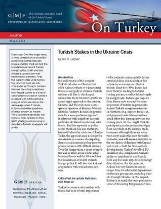 Turkish Stakes in the Ukraine Crisis