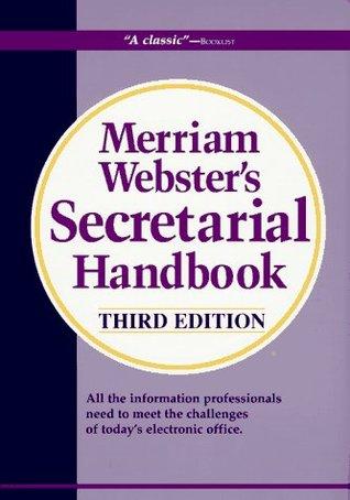 Merriam Webster's Secretarial Handbook