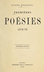 Premières poésies 1876-1878