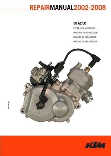 Official 2002-2008 KTM 50 AC LC Repair Manuals